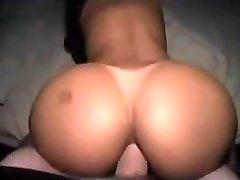 Immense white dick cum shot in black booty
