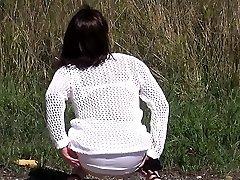French mature Eloise gangbanged by ebony rods