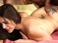 Cougar fucks her husbands black boss