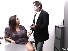 He hotwife with fat ebony secretary