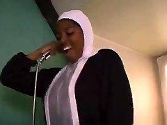 African French nun sucking and fucking big black schlongs