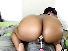 Black babe with phat ass and a pounding machine