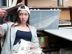 Shoplyfter - Cute Teen Nails Her Way Out Of Trouble