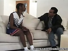 Teen Dark-hued Cheerleader Balled 1