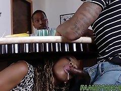 hot ebony babes vrtané s monster kohouty