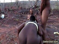 africká sex safari trojka, orgie