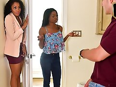 Mya Mays and Yasmine De Leon in Mothers Interracial Interaction - BadMilfs