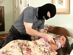 Tori Dark-hued Bound and Gagged in Pajamas