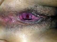 Widely Opened black pussy hole