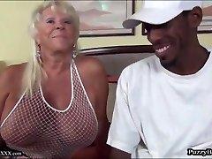 72 yr senior Grandma Craves Big Black Cock