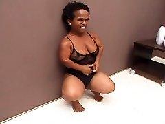 Ebony Brazilian Mature Midget Fucked Good