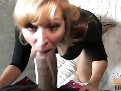 Nicole Moore milf suck black spunk-pump while son is seeing