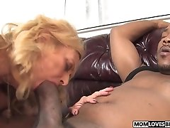 Sonnie witness how mom Dana Devine takes a Big Black Cock