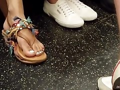 Candid indian woman feet