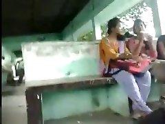 Cumming to 3 REAL INDIAN Ladies in Public