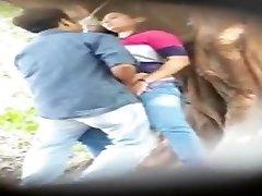 Desperate Indian Lovers - Public hook-up