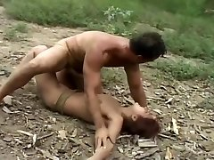 Dangled Stud Splits Spear And Teen's Pussy