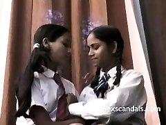Indian School Girls Filmed By Professor In Lesbian Romp
