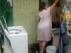 Spying Aunty Ass Washing ... Big Ass Chubby Plumper Mom
