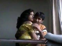 Desi boyfriend playing with fleshy boobs of his gf