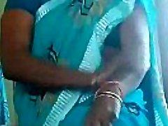hot matured aunty thighs massage self n flashing her thong