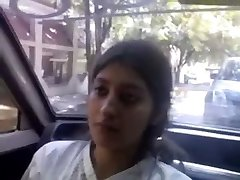 Indian Glamorous ultra-cute Excellent baby melon feed and give oral-job to bf in car