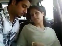 Indian duo in car gets naughty