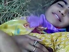 northindia damsel show off outdoor and bust girl fumble