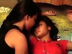 Indian damsels kissing
