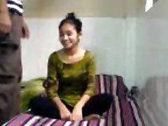 Virginal Indian Coed Sucks Fucks in BFs Dorm Apartment