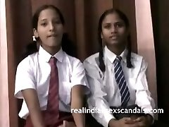 Real Indian College Girls In Uniform Unwrap Naked