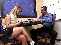Shemale teacher gives student a private lesson