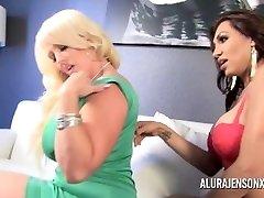 Alura Jenson gets Boned by She-male Jessy Dubai