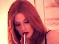 ladyboy smoking