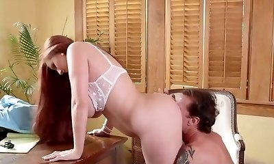 steamy busty secretary getting fucked in the office by her chief