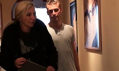 Young Man Seduce German MILF Buddy of Mother to Fuck