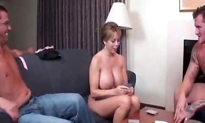 Mature duo handjob