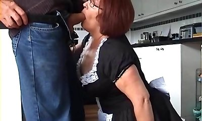 Velmadoo the French maid gagging on shaft part 1