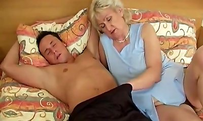 Grannie in bed