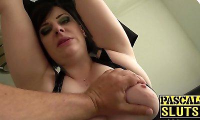 Chubby mature woman Elouise Lust deepthroat and rough sex