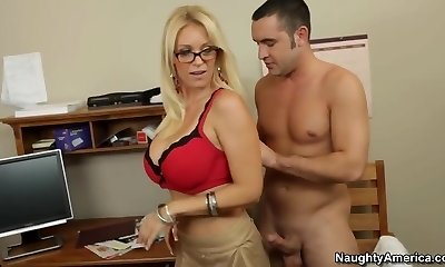 Oral sex lesson with my red-hot blonde teacher