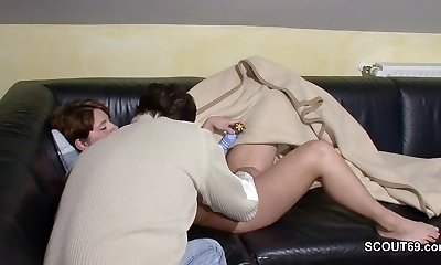 German Step-Stepson Wake Up Cougar Mom and fuck her