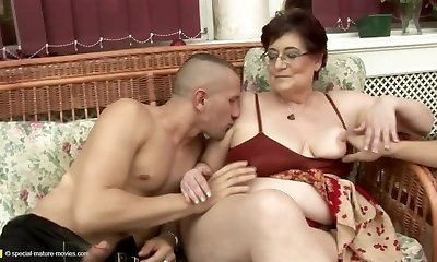 Insane senior and young couples at pissing gangbangs