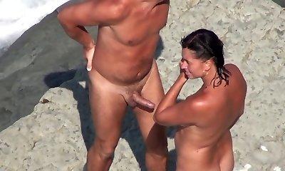 Bare Beach - Mature MMF 3 Way on the Shore