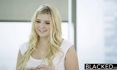 BLACKED Blonde Teen Melissa May Boinks Her Moms Boyfriend