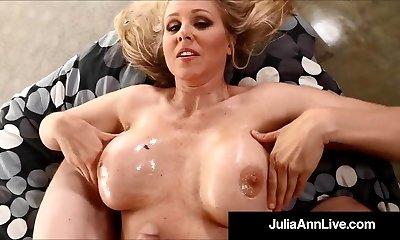 Busty Blond Milf Julia Ann Luvs Molten Loads Of Cum On Her!