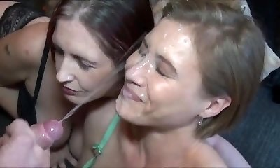 Amazing Endless Money-shot on Hot Milf Face
