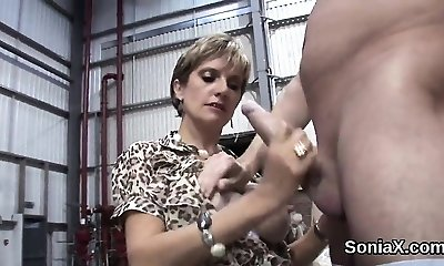 Unfaithful british mature lady sonia exposes her massive hoote