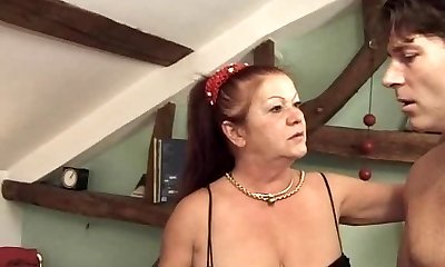 anal gang plow with french mature and milf