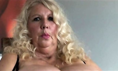 High-class busty blonde tramp snatch nailed hard in close up
